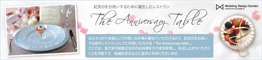 The Anniversary table オープン